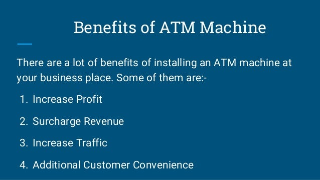 How ATM Machine is Beneficial for Business?