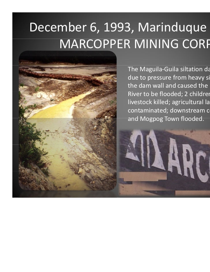 Marcopper mining tragedy in the philippines