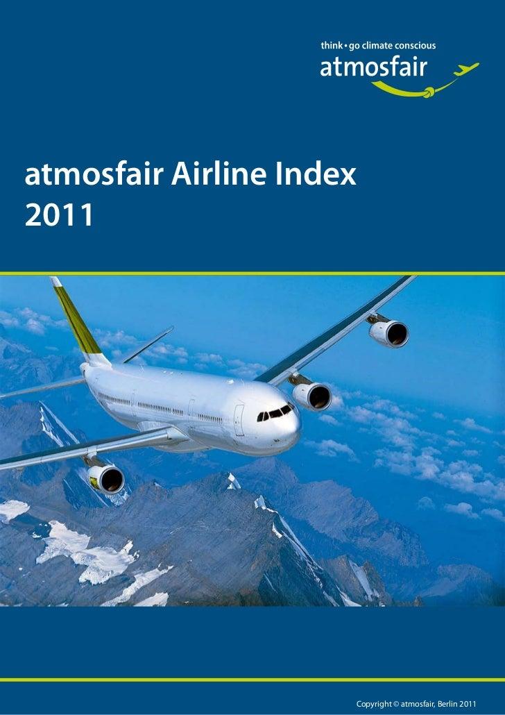 atmosfair Airline Index2011                      Copyright © atmosfair, Berlin 2011