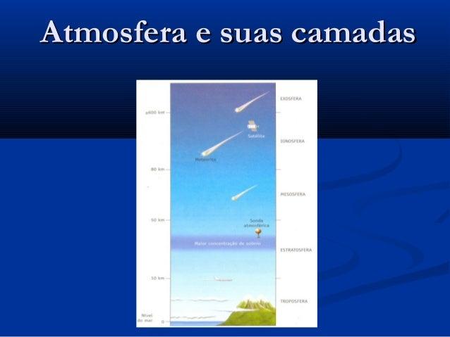 Atmosfera e suas camadasAtmosfera e suas camadas