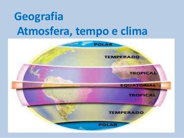 Geografia Atmosfera, tempo e clima  Breno Amarante