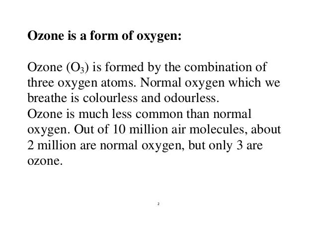 Atmospheric ozone and its depletion