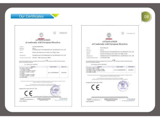 Our Certificates 08