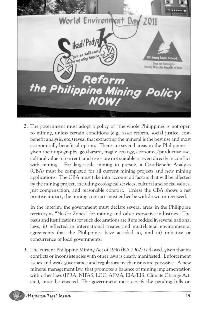 mining in the philippines essay Advantages and disadvantages of globalization in the philippines 2445 words | 10 pages essay on  advantages of mining in the philippinesmining and its effects.