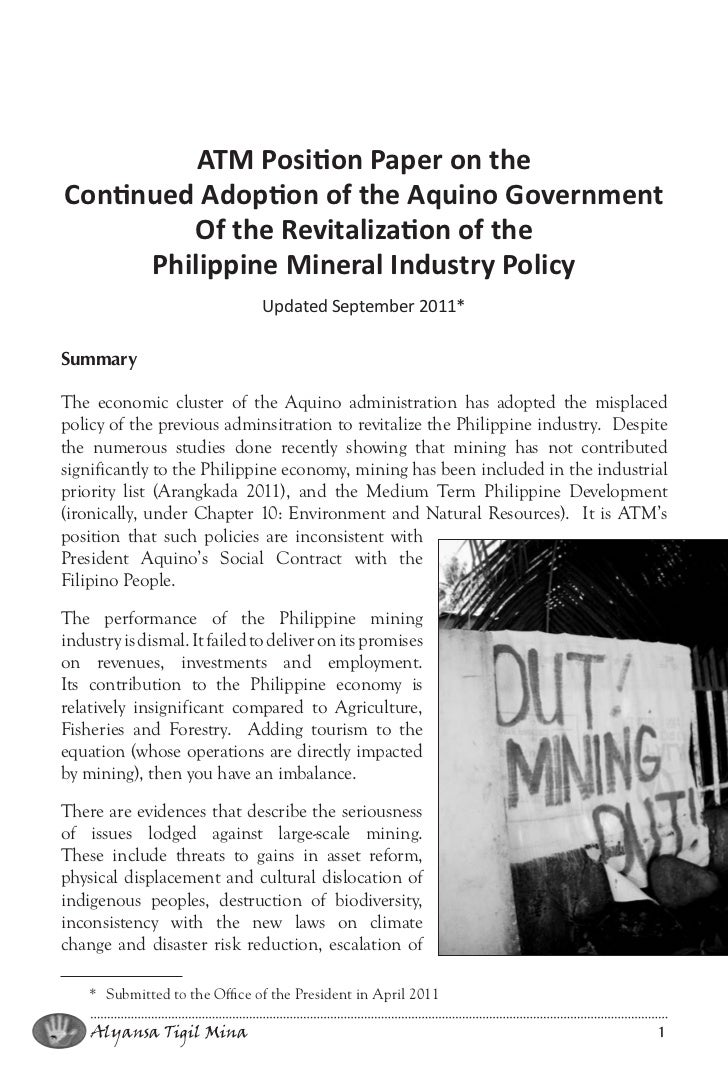 mining in the philippines essay There are different phases of a mining project, beginning with mineral ore exploration and ending with the post-closure period what follows are the typical phases of a proposed mining project each phase of mining is associated with different sets of environmental impacts.