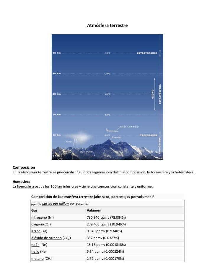 Atmósferaterrestre                                                     ...