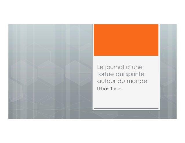 Le journal d'une tortue qui sprinte autour du monde Urban Turtle