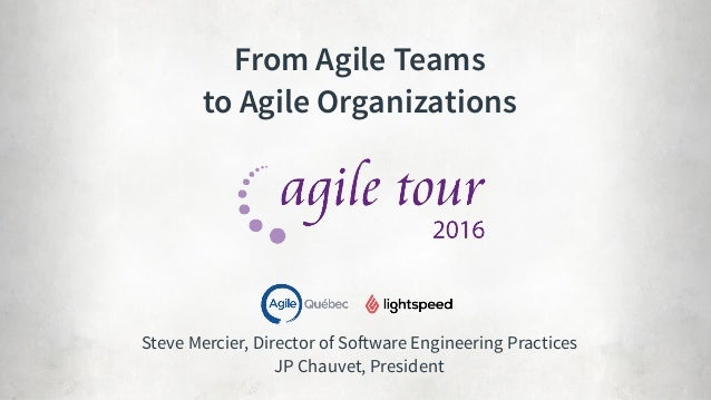 Steve Mercier, Director of Software Engineering Practices
