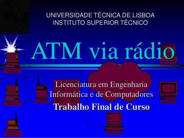 Comutador de ATM Terminal de ATM Terminal de ATM Terminal de ATM Terminal móvel de ATM sem fios Terminal móvel de ATM sem ...