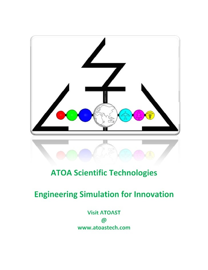ATOA Scientific Technologies  Engineering Simulation for Innovation              Visit ATOAST                    @        ...