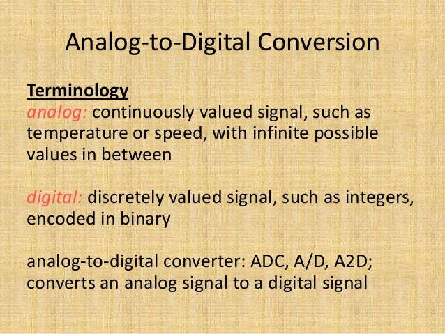 Analog To Digital Conversion