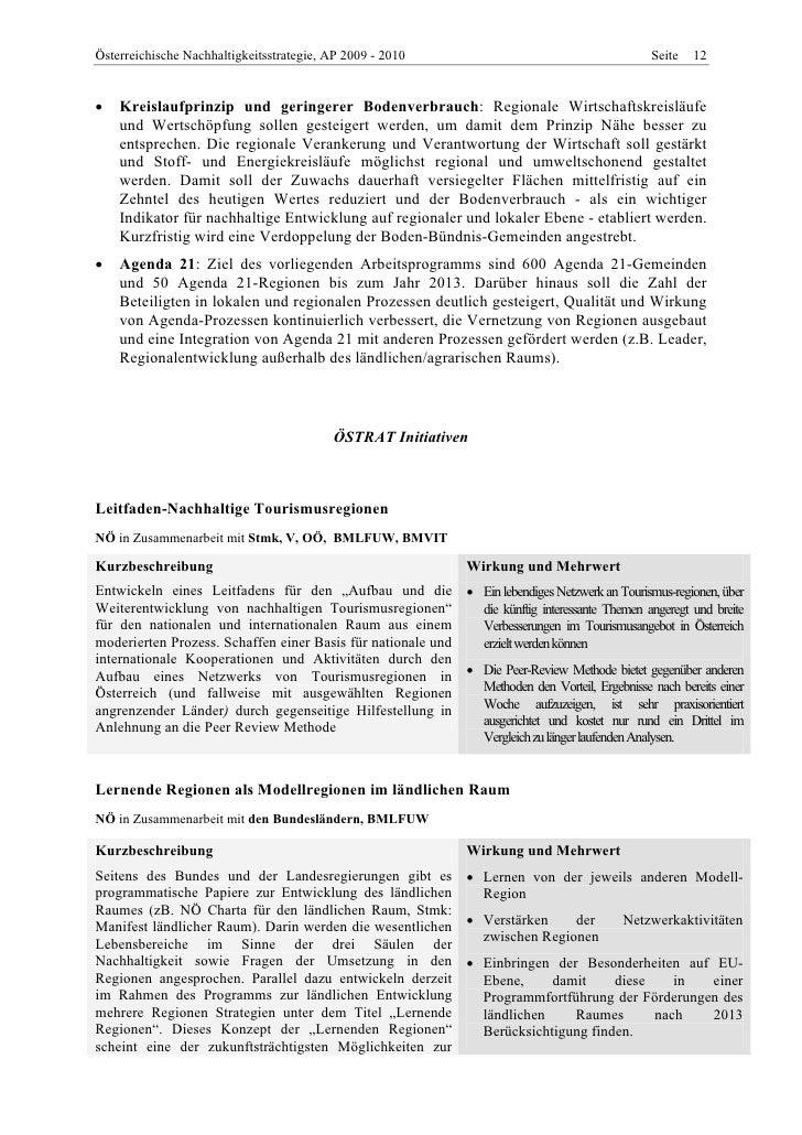 ÖSTRAT Arbeitsprogramm 2009-2010