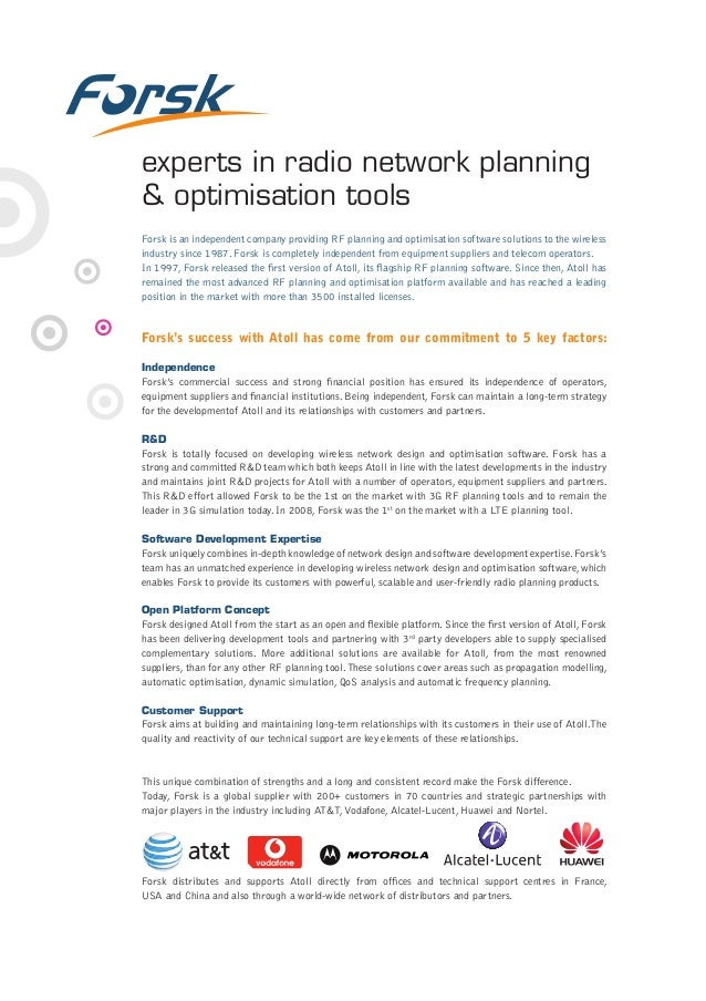 Radio network planning for 4G LTE