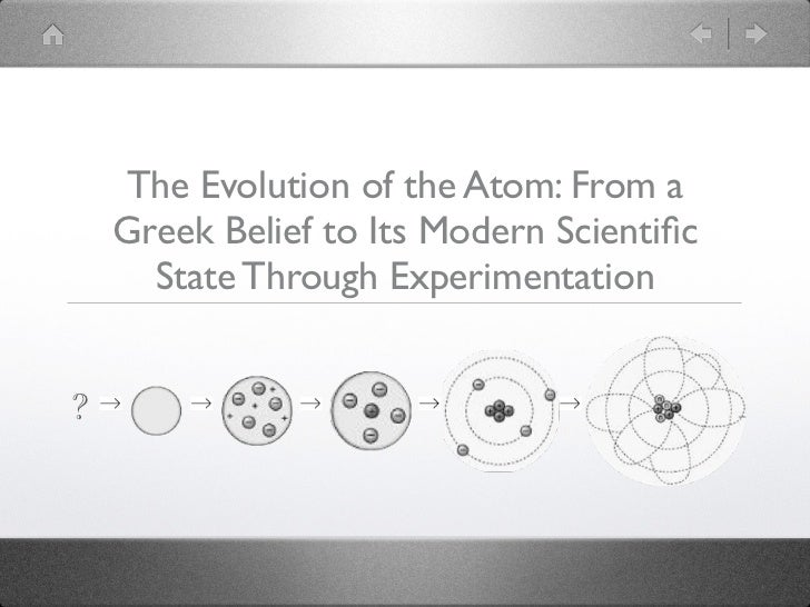 The Evolution of the Atom: From a    Greek Belief to Its Modern Scientific      State Through Experimentation?