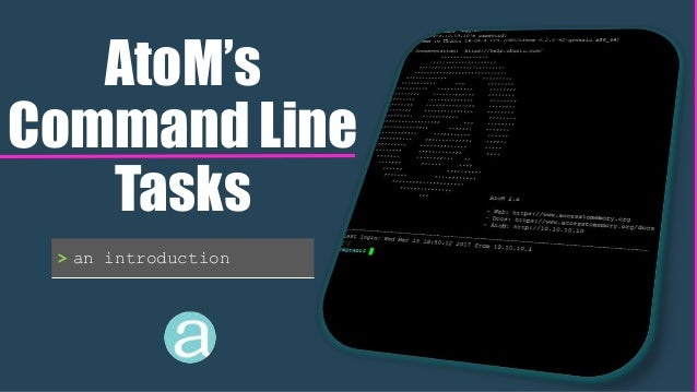AtoM's Command Line Tasks > an introduction