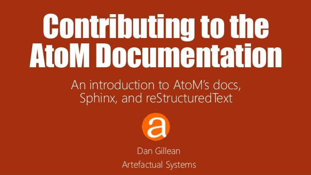Contributing to the AtoM documentation