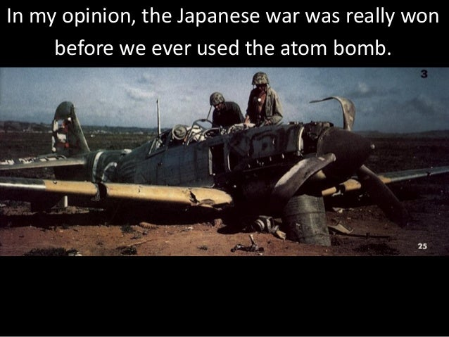 were the atomic bombs used in The decision to use the atomic bomb: but never again—not even in the worst days of the korean war—would he authorize the use of atomic weapons there were no.
