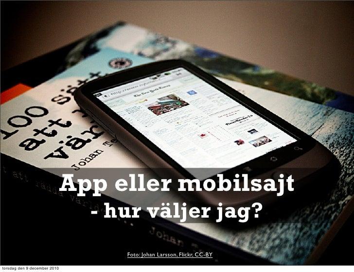 App eller mobilsajt?