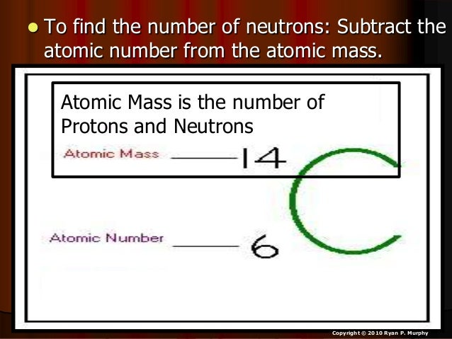 how to find the atomic number of an isotope