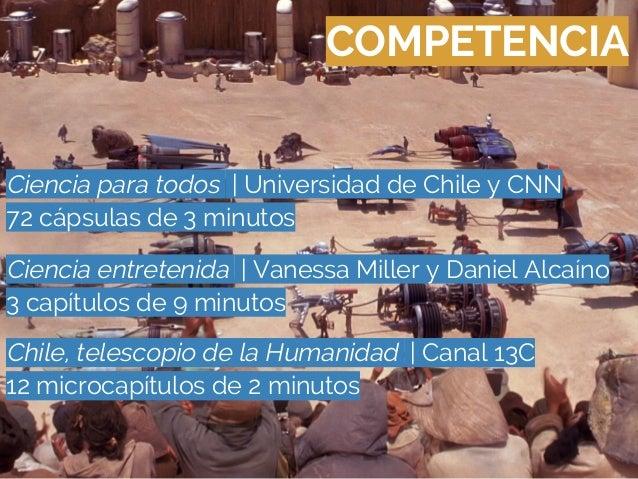 COMPETENCIACiencia para todos   Universidad de Chile y CNN72 cápsulas de 3 minutosCiencia entretenida   Vanessa Miller y D...