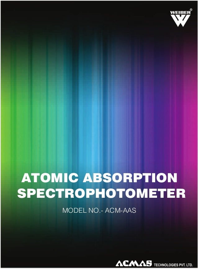 R  ATOMIC ABSORPTION SPECTROPHOTOMETER MODEL NO.- ACM-AAS