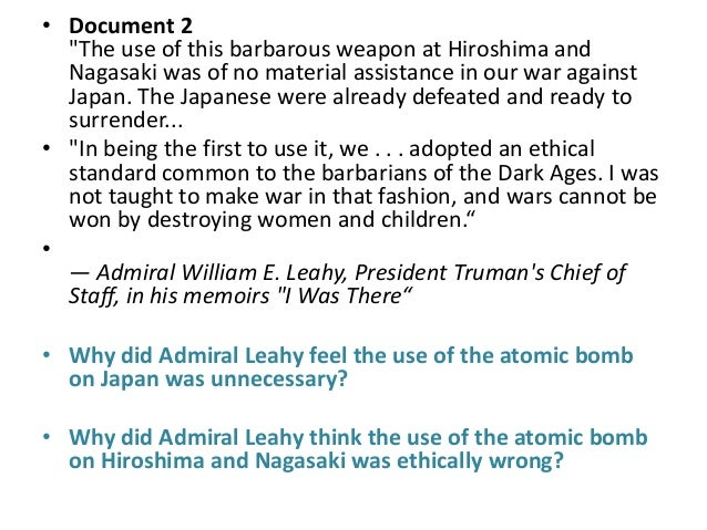 dbq atomic bombing Modified from: name: to drop or not to drop the atomic bomb.