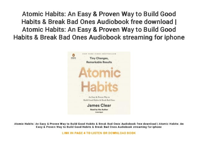 Atomic Habits Audiobook Download, Free Online Audio Books Torrent Search Result