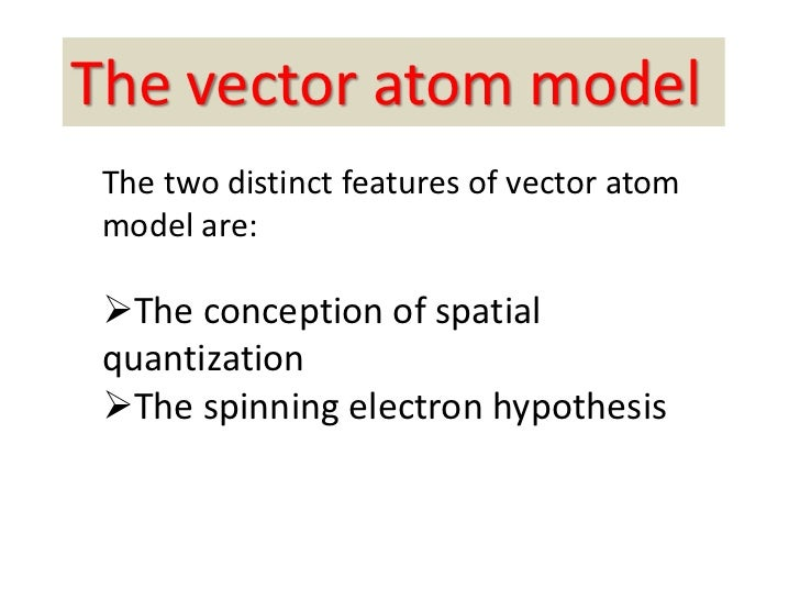 Different atomic models 18 the vector atom model ccuart Image collections