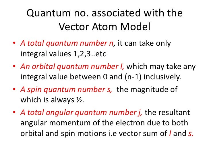 Different atomic models spinning electron hypothesis 19 quantum no associated with the vector atom model ccuart Image collections