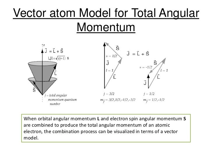 Different atomic models vector atom model for total angular momentum ccuart