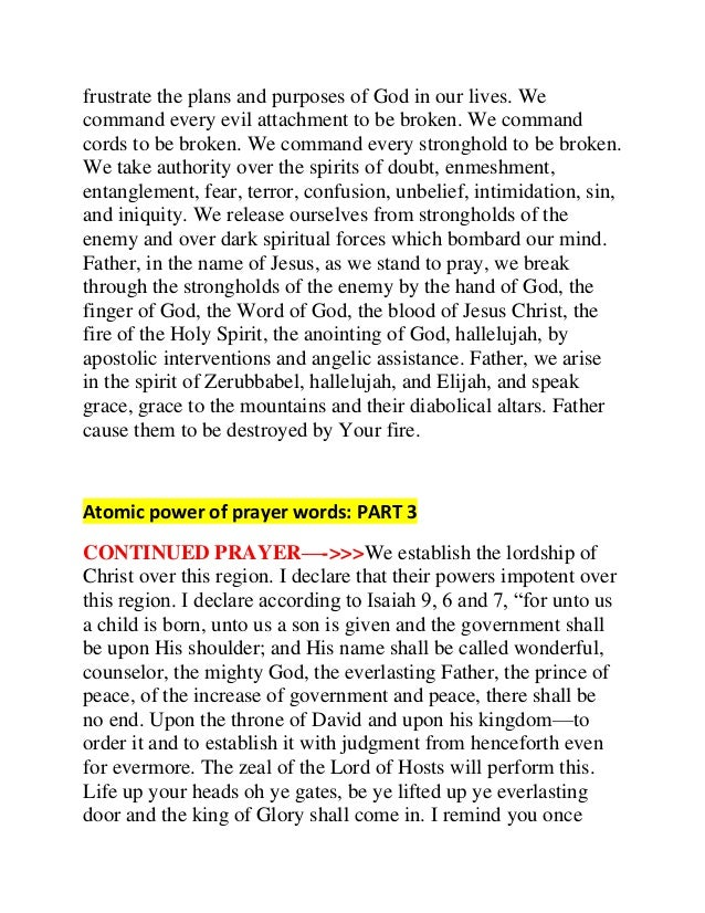 Atomic Prayer by Dr  Cindy Trimm