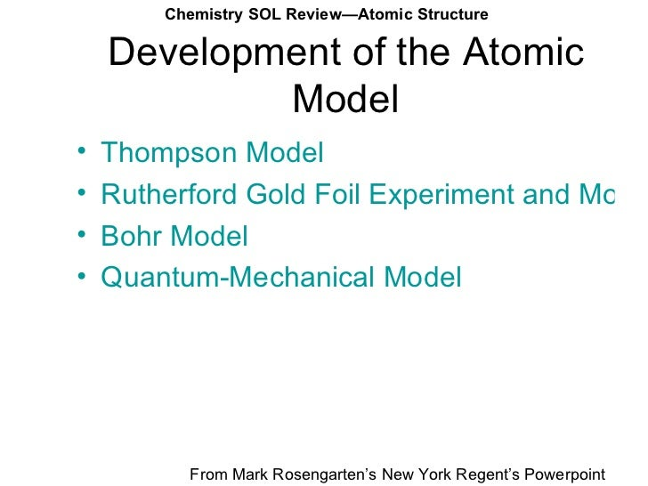 the progress of the atomic structure Ch 2 the structure of atoms 1(16)  the atomic nucleus by rutherford, to the bohr theory, to the introduction of the quantum-mechanical  table 21 progress of.