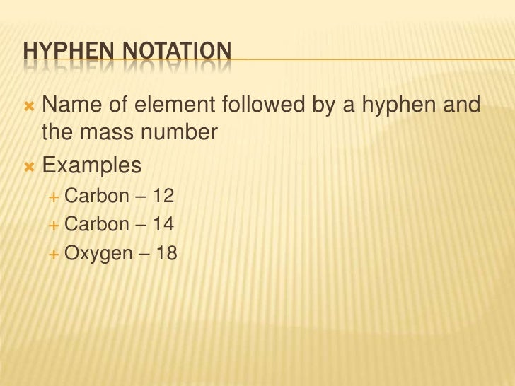 Carbon dating notation