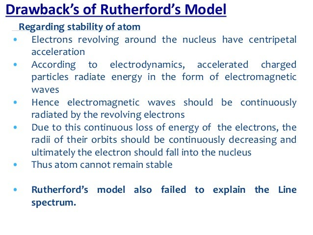 Basic atomic structure rutherford experiment 11 regarding stability of atom electrons ccuart Gallery