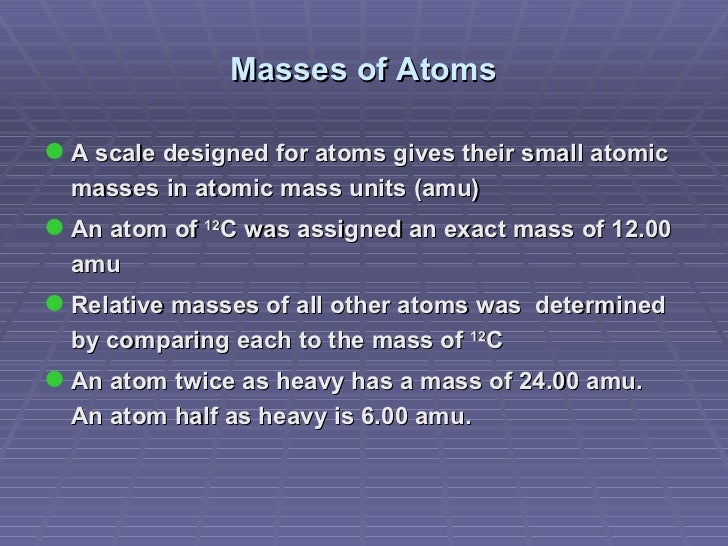 Atomic structure and the periodic table masses of atoms urtaz Image collections