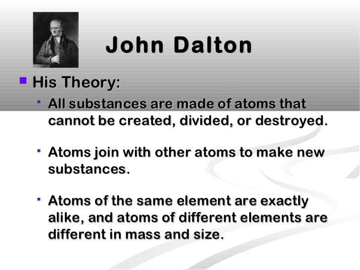 the early life successes and contributions of john dalton in atomic theory Contributors of the atomic theory, a timeline made with timetoast' john dalton 1766-1844 he was an english chemist in early work he discovered the concept of radioactive half life.