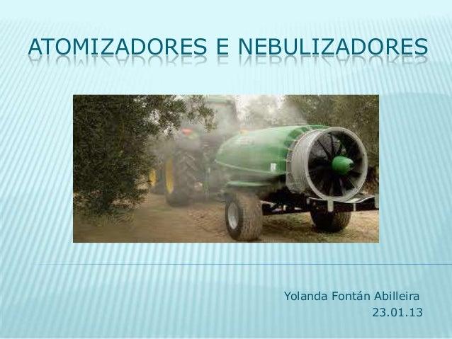 Atomizadores e nebulizadores for Nebulizadores de agua