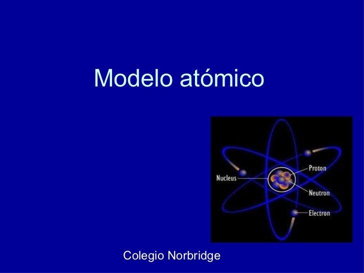 Modelo atómico Colegio Norbridge