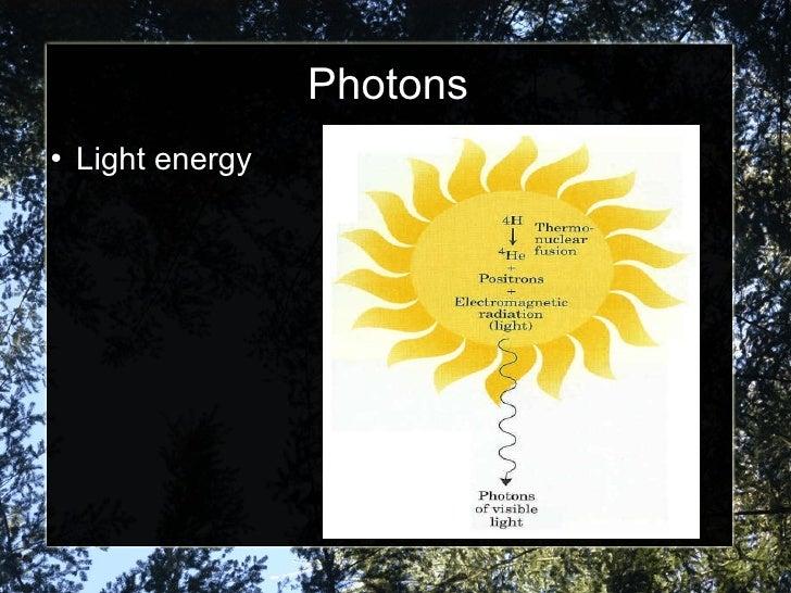 Photons <ul><li>Light energy </li></ul>