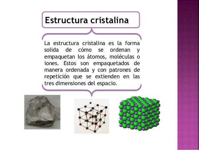 Atomos Y Estructuras Cristalinas