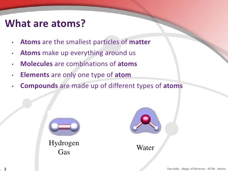 atoms and elements Atoms and elements all matter is composed of elements an element is a structure that cannot be broken down into simpler substances (by ordinary methods) some well known elements include oxygen, carbon, and iron.