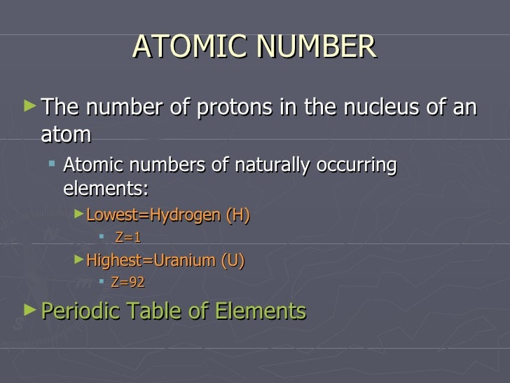 Atoms and subatomic particles atomic number urtaz