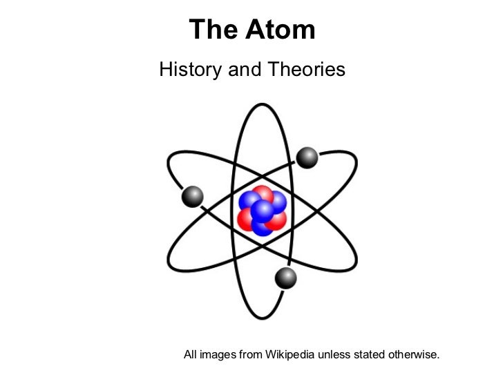 The AtomHistory and Theories  All images from Wikipedia unless stated otherwise.