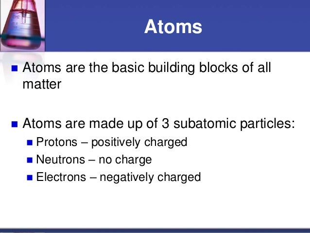 Elements Building Blocks Of Matter