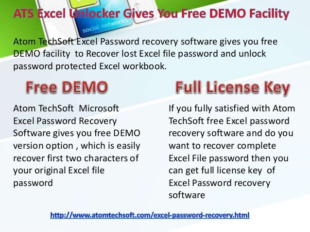atomic excel password recovery registration key
