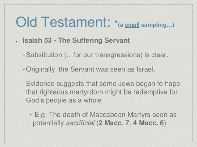 the atonement of sin in the old testament Atonement: removal of sin's cause and reconciliation satan is the author of sin the day of atonement involves not only the forgiveness old testament symbolism.