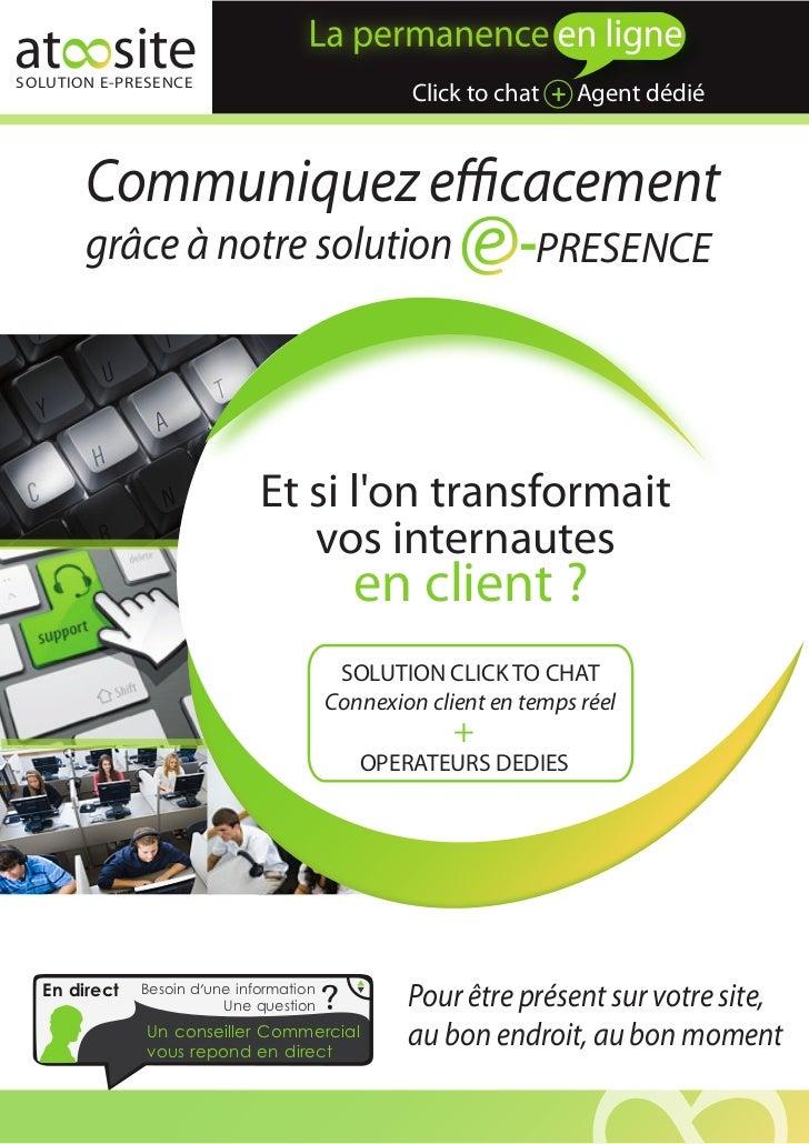 at siteSOLUTION E-PRESENCE                                                 Click to chat + Agent dédié       Communiquez e...