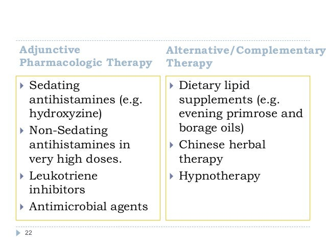 Sedating antihistamines for eczema