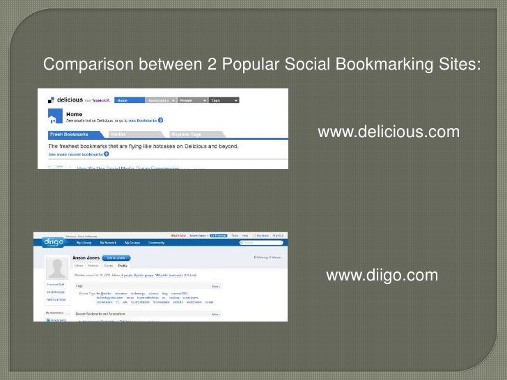 Comparison of two websites