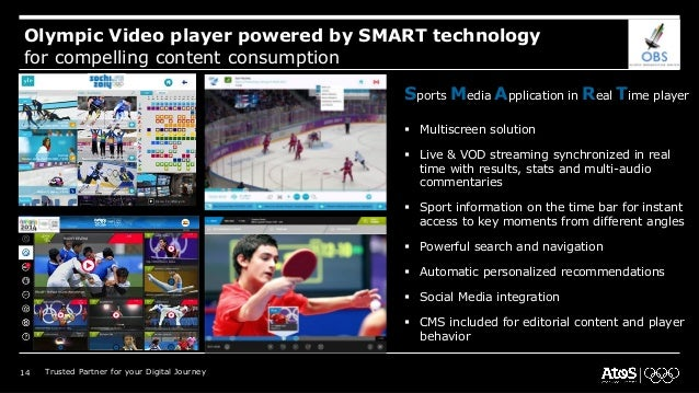 Olympic Video player powered by SMART technology for compelling content consumption Sports Media Application in Real Time ...
